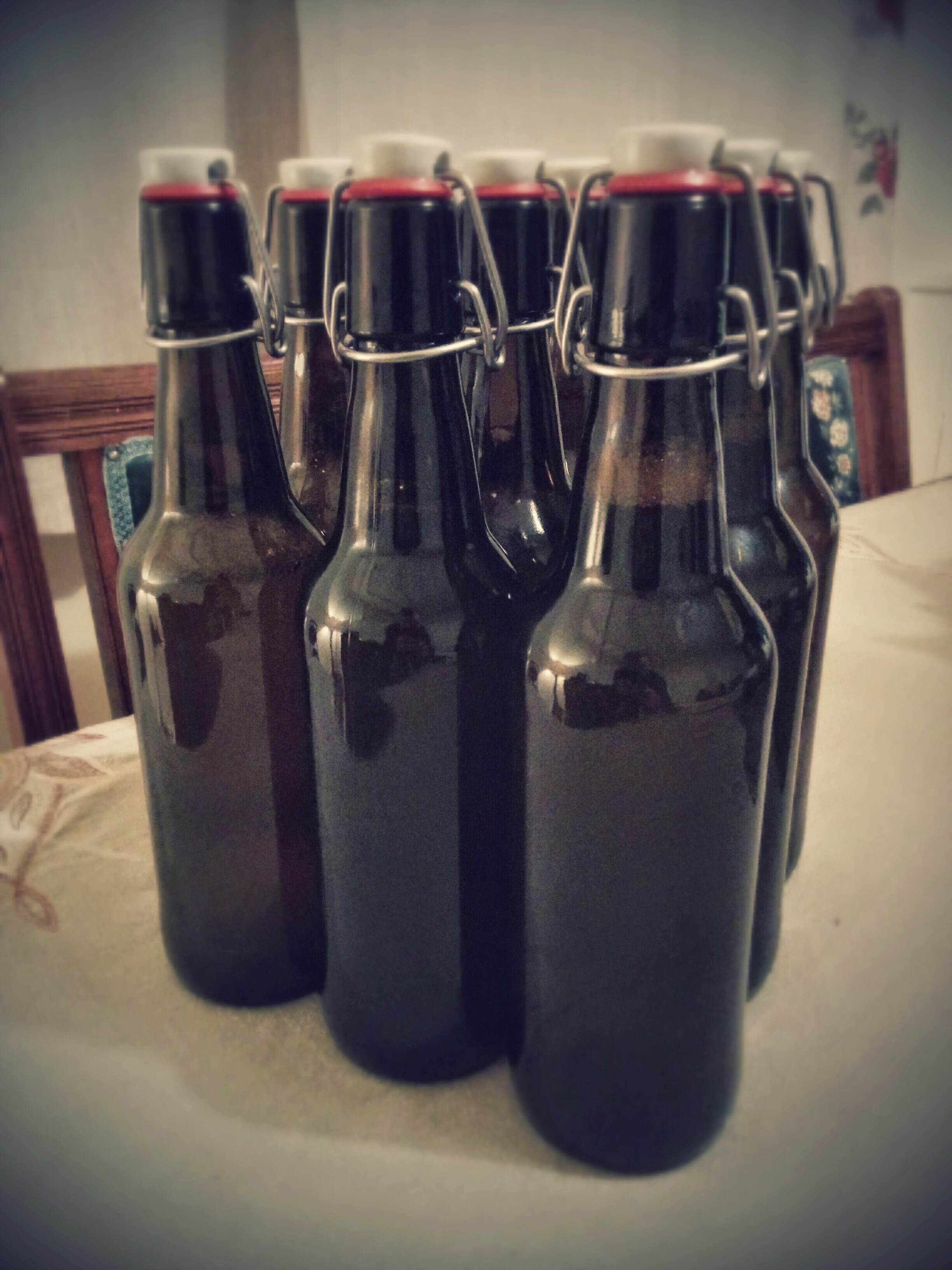 Our first batch of homemade cider