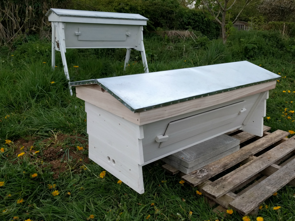 New hive on its temporary stand